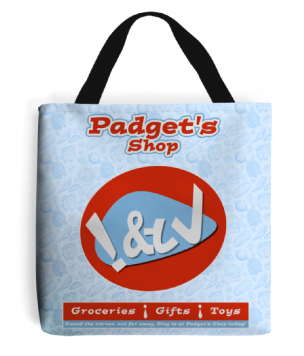 Padgets Shop Grocery Tote Bag from Bing Bunny Kids TV Cbeebies